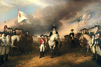 Surrender Of Lord Cornwallis Poster by Mountain Dreams