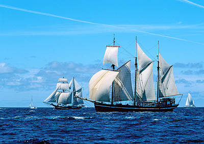 Tall Ship Regatta In The Baie De Poster by Panoramic Images