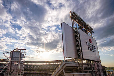 Target Field Sunset Poster by Tom Gort