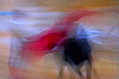 Tauromaquia Abstract Bull-fights In Spain Poster by Guido Montanes Castillo