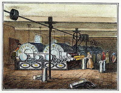Textile Mill, C1840 Poster