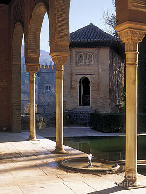The Alhambra Palace Of The Partal Poster by Guido Montanes Castillo