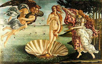 Poster featuring the painting The Birth Of Venus by Sandro Botticelli