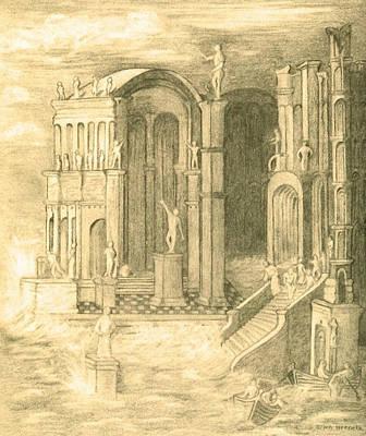The Fall Of Atlantis Poster by Ellen Henneke