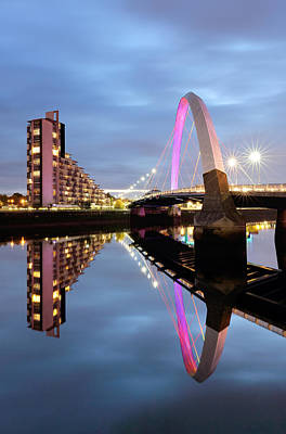 The Glasgow Clyde Arc Bridge Poster by Grant Glendinning