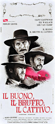 The Good, The Bad, And The Ugly Aka Il Poster by Everett