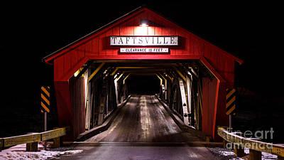 The Rebuilt Taftsville Covered Bridge. Poster