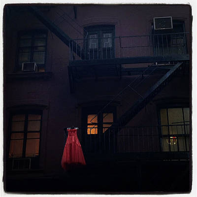 The Red Gown Poster by Natasha Marco