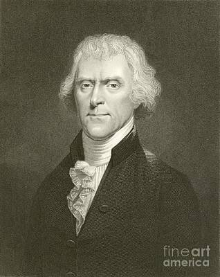 Thomas Jefferson Poster by English School