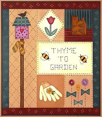 Thyme To Garden Poster
