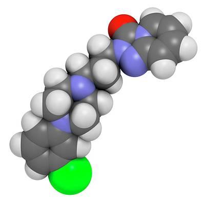 Trazodone Antidepressant Drug Molecule Poster