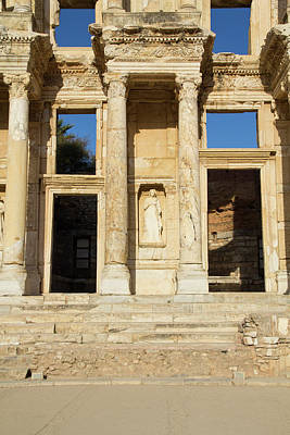Turkey, Ephesus The Library Of Ephesus Poster