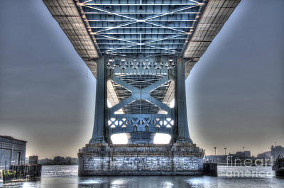 Under The Bridge - Ben Franklin, Philadelphia Poster by Mark Ayzenberg