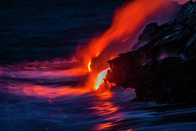 Usa, Hawaii, The Big Island, Kilauea Poster by Jaynes Gallery