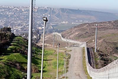 Usa-mexico Border Surveillance Poster