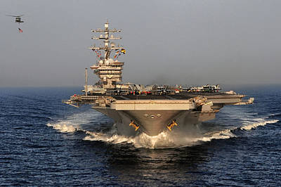 Uss Dwight D. Eisenhower Poster by Mountain Dreams
