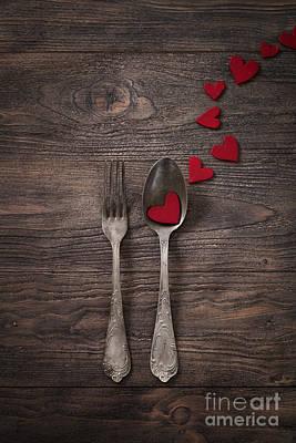 Valentines Dinner Poster by Mythja  Photography