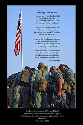 Poster featuring the photograph Veterans Remember by Carolyn Marshall