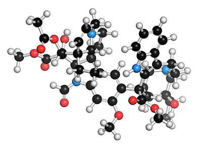 Vincrinstine Cancer Drug Molecule Poster by Molekuul