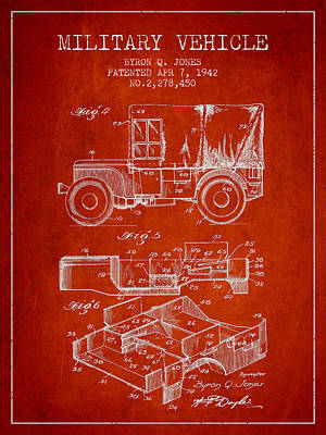 Vintage Military Vehicle Patent From 1942 Poster by Aged Pixel