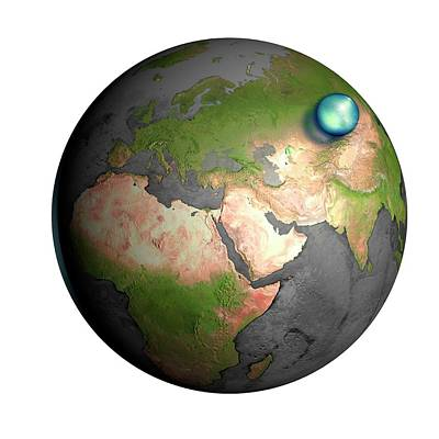 Volume Of Earth's Water Poster
