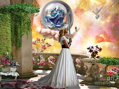 Warrior Bride Poster by Dolores Develde