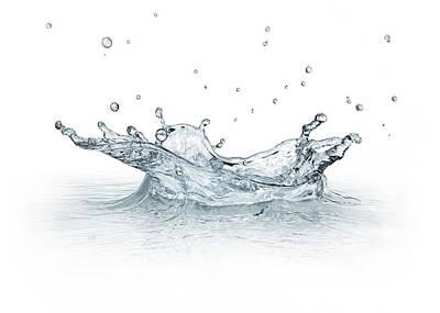 Water Splashing Poster by Leonello Calvetti
