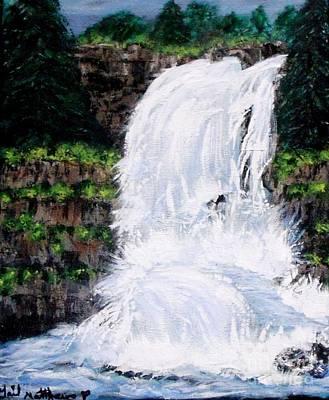 Waterfalls At Rock Canyon Poster