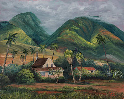 Poster featuring the painting West Maui Mountains by Darice Machel McGuire