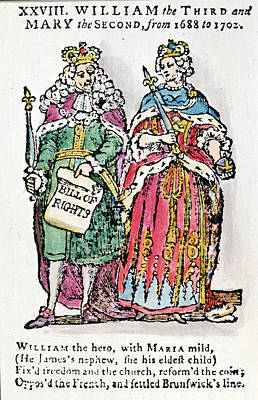 William IIi & Queen Mary Poster by Granger