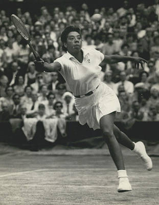 Women�s Singles Semi-finals At Wimbledon. Althea Gibson Beats Ann Haydon Poster by Retro Images Archive