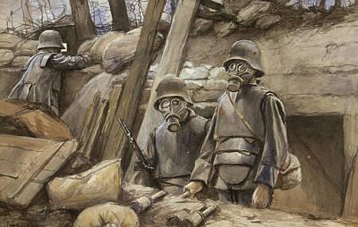 World War I Gas Masks Poster