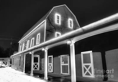 Yates Cider Mill At Christmas Poster by Twenty Two North Photography