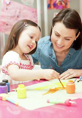 Young Girl Painting Poster