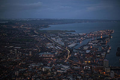 Belfast At Night, Northern Ireland Poster by Colin Bailie