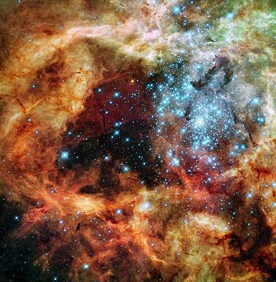 30 Doradus Star Clusters Poster by Nasa/esa/stsci/e. Sabbi