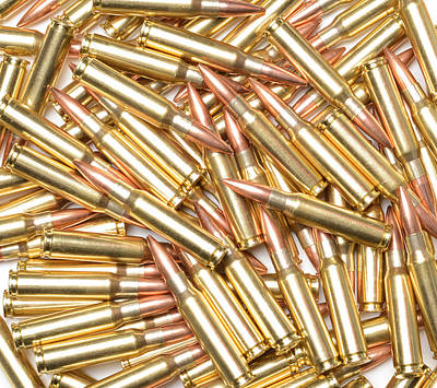 308 Winchester Cartridges. Poster by John Bell