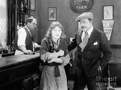 Silent Film Still: Drinking Poster by Granger