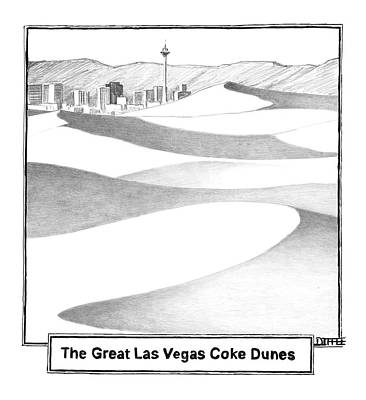The Great Las Vegas Coke Dunes Poster by Matthew Diffee