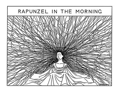 Rapunzel In The Morning Poster