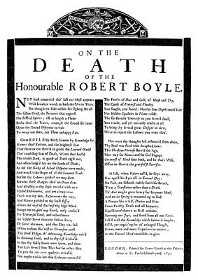 Robert Boyle (1627-1691) Poster
