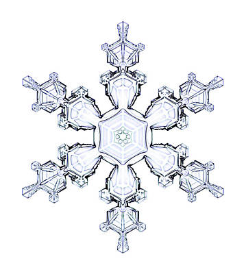 Snowflake Poster by Kenneth Libbrecht
