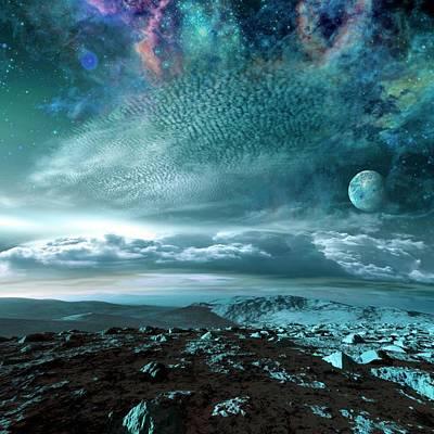 Alien Planetary System Poster by Detlev Van Ravenswaay