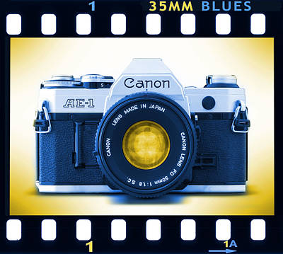 35mm Blues Canon Ae-1 Poster by Mike McGlothlen