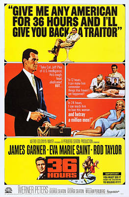 36 Hours, Us Poster Art, Rod Taylor Poster