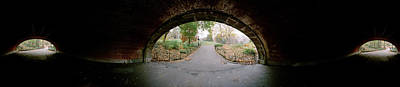 360 Degree View Of A Tunnel In An Urban Poster by Panoramic Images