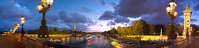 360 Degree View Of The Pont Alexandre Poster by Panoramic Images