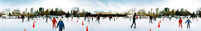 360 Degree View Of Tourists Ice Poster by Panoramic Images