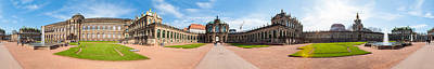 360 Degree View Of Zwinger Palace Poster