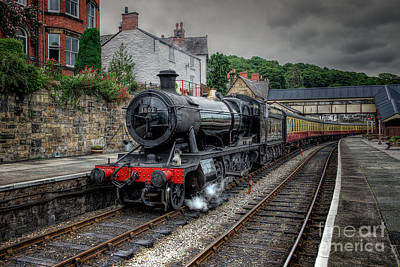 3802 At Llangollen Station Poster by Adrian Evans